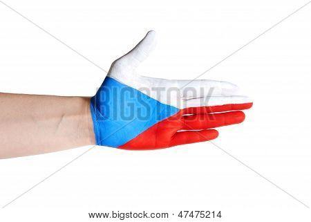 Czech Hand In Handshake Gesture