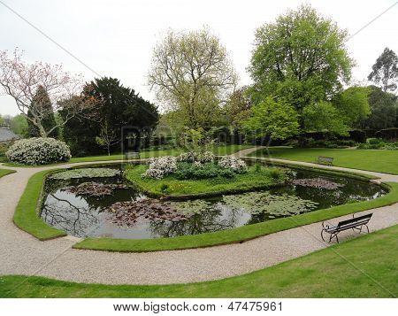 Cotehele House Garden Pond Landscape