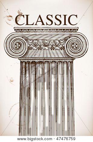 Classical column background