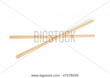 chopsticks in white background