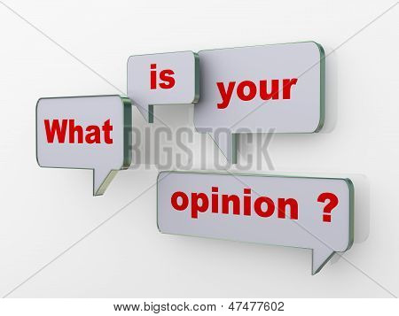 What Is Your Opinion Bubble Speech
