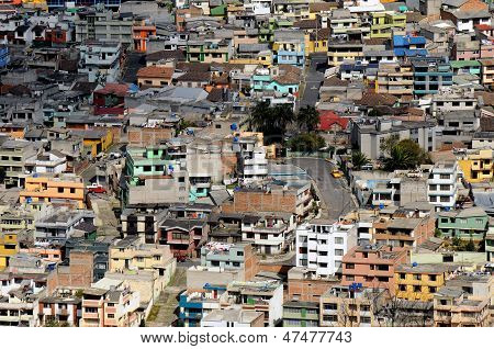 Favela Or Villa, Poor Area In Latin Town