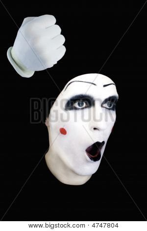 Mime With Open Mouth