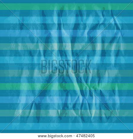 Retro striped pattern on crumpled psper. Eps10