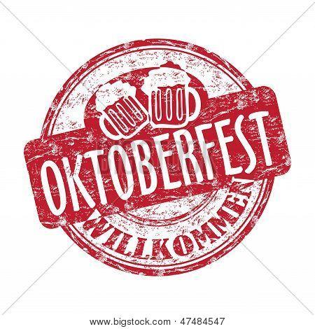 Oktoberfest grunge rubber stamp