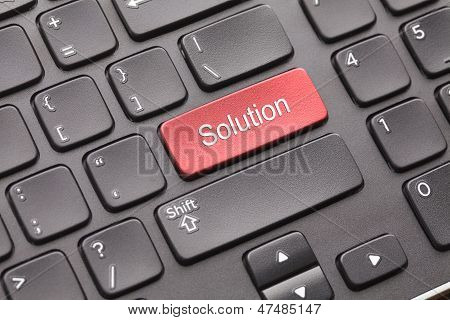 Keyboard with red Solution key