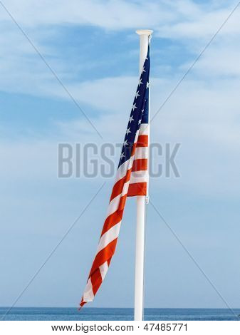 national flag of the united states, symbolic photo for patriotism, sovereignty, crisis
