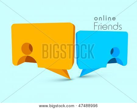 Happy Friendship Day background with speech bubble.
