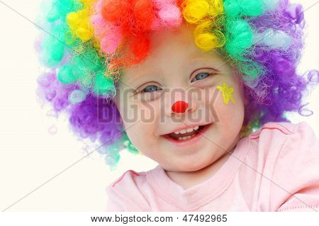 Baby In Clown Costume