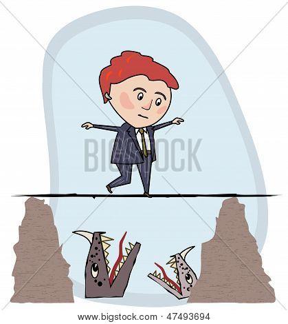 Mann mit einem Tightrope.eps