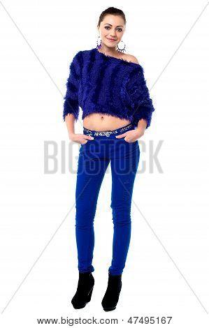 Gorgeous Woman Striking A Cool Posture