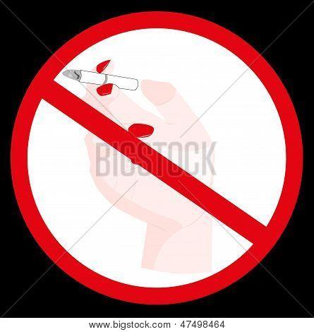 Sign Prohibiting Smoking