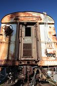 stock photo of railcar  - a picture of an old abandoned train - JPG