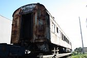 pic of railcar  - a picture of an old abandoned train - JPG