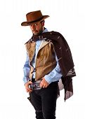 pic of gunslinger  - Bad gunslinger in the old wild west - JPG