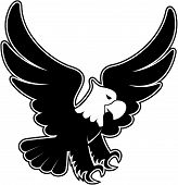 eagle landing cartoon vector