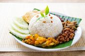 stock photo of ayam  - Nasi lemak - JPG