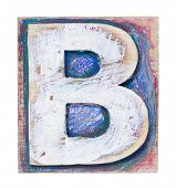 foto of letter b  - Wooden alphabet block - JPG