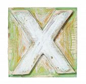 foto of letter x  - Wooden alphabet block - JPG