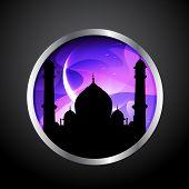 stock photo of namaz  - vector ramadan kareem label design - JPG