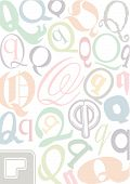 Typo Q Pastell poster