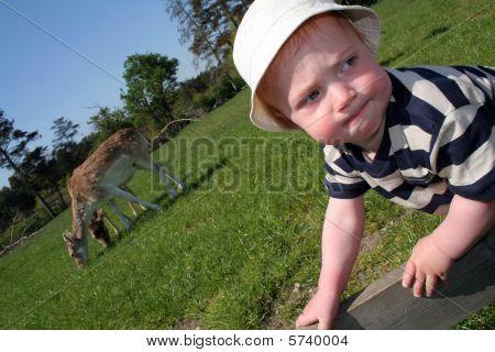 Child Park Deer