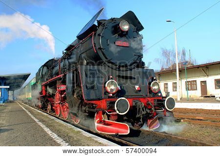 Steam Train With Smoke, Wolsztyn, Poland