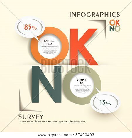 Abstract Origami Reply Comments Chart Infographics