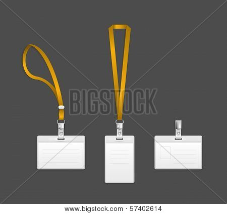Lanyard, name tag holder end badge templates