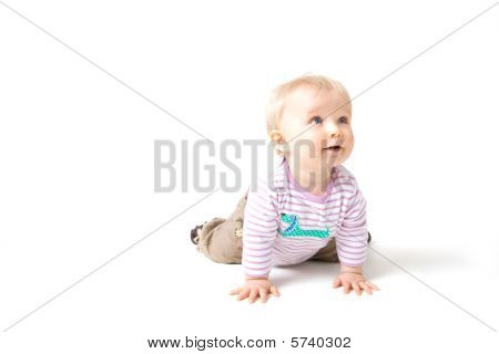 Baby Girl Isolated On White