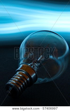 Lightbulb Wiht Enlighted Background