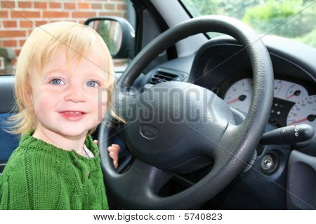 Child Car Steering Wheel Drive