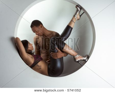 Young Ethnic Couple Man And Woman In Love