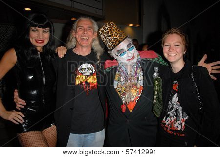Rena Riffel. Camden Toy, Count Smokula and guest at a midnight movie screening of Rena Riffel's