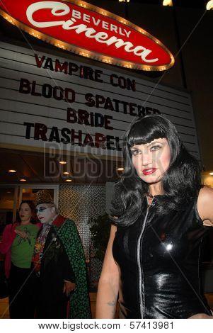 Rena Riffel at a midnight movie screening of Rena Riffel's