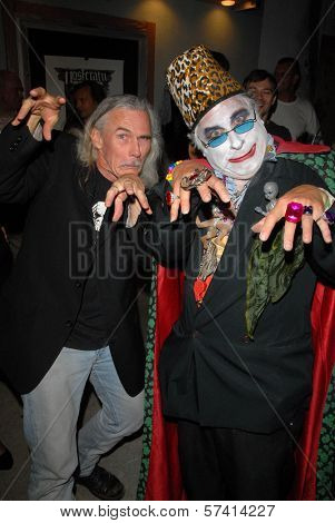 Camden Toy and Count Smokula at a midnight movie screening of Rena Riffel's