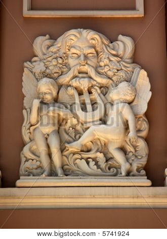 Neptune Statue Old Opera House Municipal Theater Nha Hat Thanh P