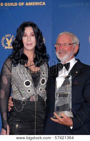 Cher and Norman Jewison at the 62nd Annual DGA Awards - Press Room, Hyatt Regency Century Plaza Hotel, Century City, CA. 01-30-10