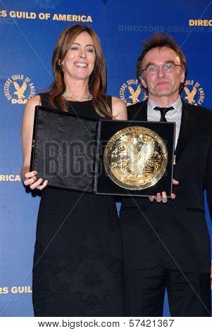 Kathryn Bigelow and Danny Boyle at the 62nd Annual DGA Awards - Press Room, Hyatt Regency Century Plaza Hotel, Century City, CA. 01-30-10
