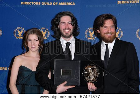 Anna Kendrick, Jason Reitman, Jason Bateman at the 62nd Annual DGA Awards - Press Room, Hyatt Regency Century Plaza Hotel, Century City, CA. 01-30-10