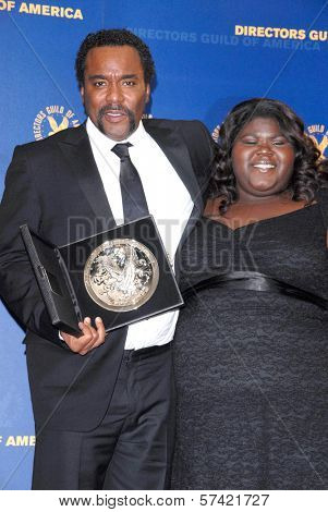 Lee Daniels and Gabourey Sidibe at the 62nd Annual DGA Awards - Press Room, Hyatt Regency Century Plaza Hotel, Century City, CA. 01-30-10