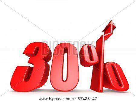 Up 30 percent