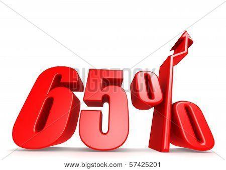 Up 65 percent