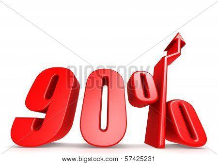 Up 90 percent