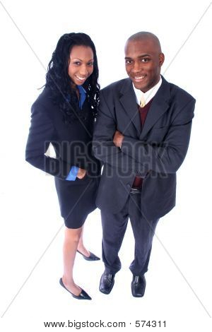 African American Business Man And Woman