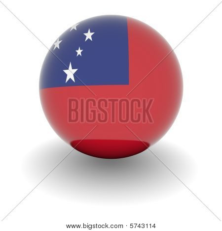 High Resolution Ball With Flag Of Samoa