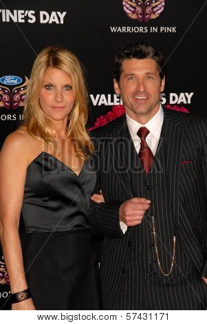 Patrick Dempsey and wife at the