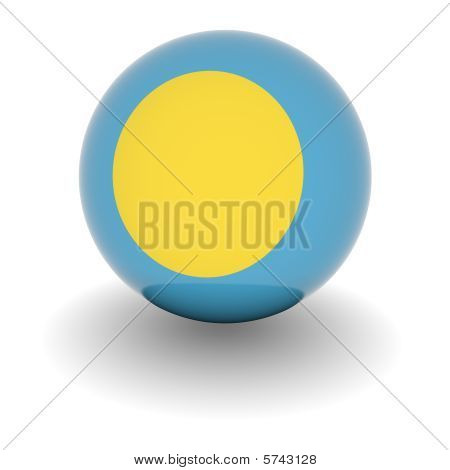 High Resolution Ball With Flag Of Palau