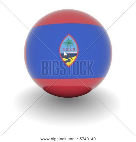 High Resolution Ball With Flag Of Guam