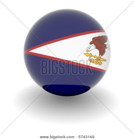 High Resolution Ball With Flag Of American Samoa